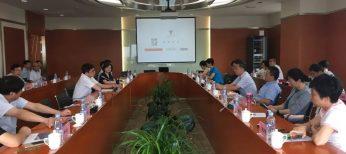 湖北省科技厅等一行考察团来访东中心调研